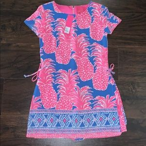 NWT Lilly Pulitzer Little Flamenco Blanca Romper 0
